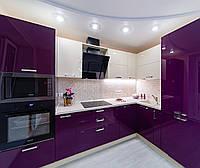 Фиолетовая (баклажановая) кухня на заказ ViAnt - лидер продаж Киев, Ирпень, Буча