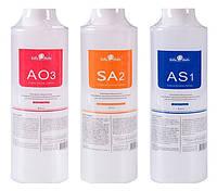 Набор Гидрирующих сывороток для аквапилинга (Aqua Hydra Dermabrasion Facial Clean) 3х400 мл.