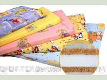 Матрац ортопедичний в дитячу ліжечко тришаровий товстий (кокос+поролон+кокос) 120х60х10см.