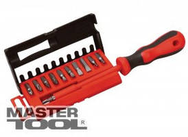 MasterTool  Отвёртка диэлектрическая с насадками 25 мм 11 эл(SL 4; 5; 6; 7 PH1/PH2/PH3; PZ1/PZ2;T15;T20) в кейсе, Арт.: 40-0041