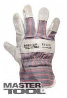 """MasterTool Перчатки комбинированные из замши и ткани, сшивная ладонь, 10,5"""", 125-145 г, Арт.: 83-0701"""