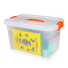 Магнитный конструктор в кейсе (258 предметов) - детский развивающий конструктор