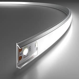 Комплект. Гибкий профиль для светодиодной ленты ЛПФ-5б матовый 5х15