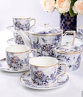 Чайный набор Пенелопа фарфоровый на 6 персон 264-673