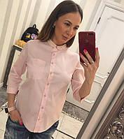 "Рубашка женская из коттона с жемчугом ""Коста"", фото 1"