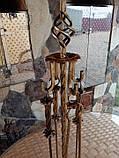 Набор для камина кованый №5 (витая труба), фото 2