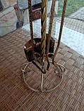Набор для камина кованый №5 (витая труба), фото 3