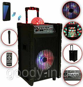 Колонка акустична акумуляторна DMS K10-10FZ Bluetooth, USB, MP3, Wireless LED