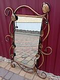 Зеркало в кованой раме новое малое, фото 3