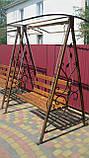 Кованая качель садовая большая разборная, фото 2