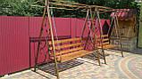 Кованая качель садовая большая разборная, фото 4