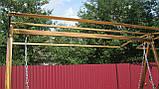 Кованая качель садовая большая разборная, фото 5