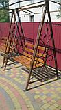 Кованая качель садовая большая разборная, фото 9