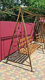 Кованая качель садовая большая разборная, фото 10