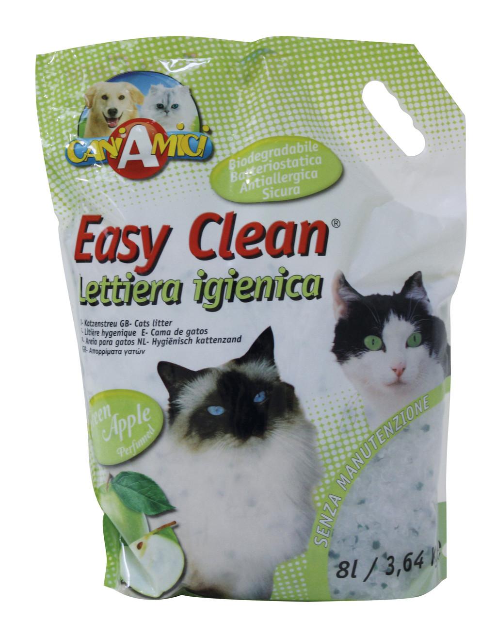Силикагелевый наполнитель с ароматом яблока для котов Easy Clean, 8л