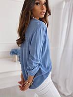 Рубашка женская белая, голубая, розовая, 42-44, 44-46, фото 1