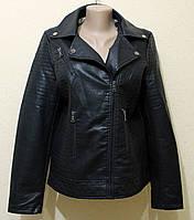 Женская куртка косуха в больших размерах 50, 52, 54