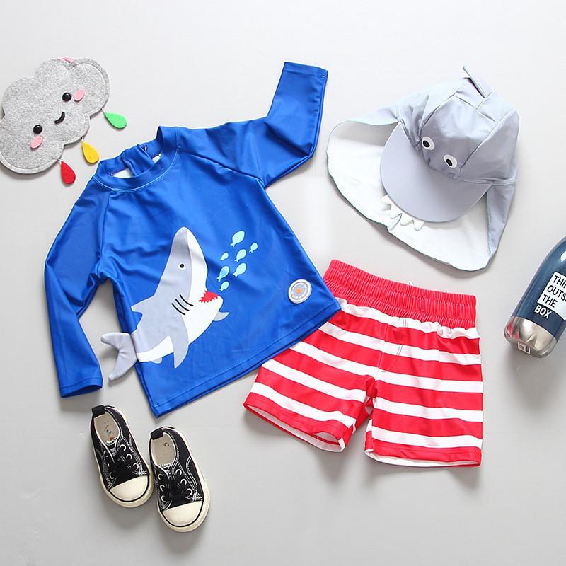 Купальный костюм для мальчика c upf 50, Акула.