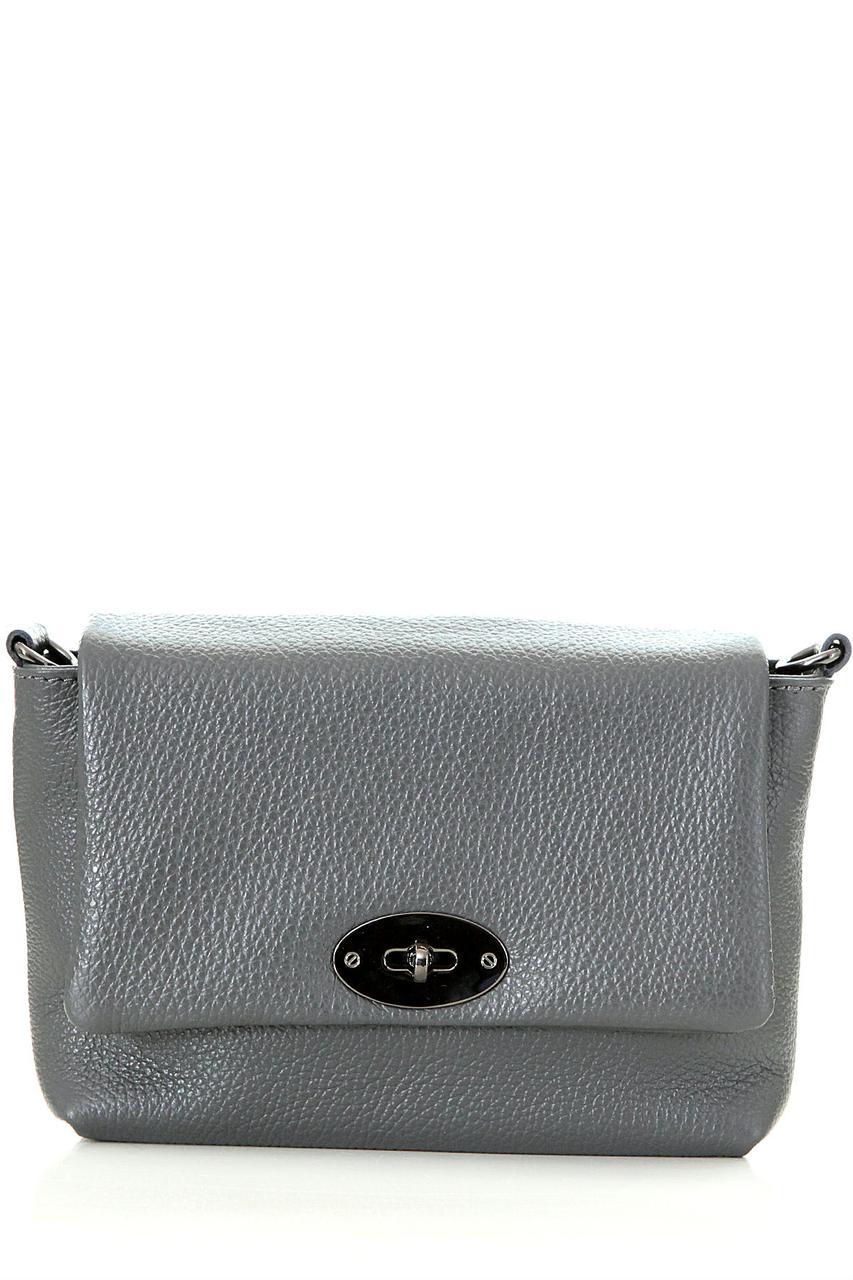 Diva's Bag Женская кожаная сумка LAIA цвет темно-серый