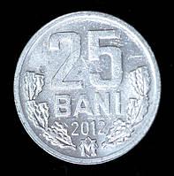 Монета Молдавии 25 бани 2012 г., фото 1