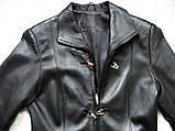 Кожаное женское пальто Б/У Размер S / 44-46, фото 2