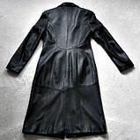 Кожаное женское пальто Б/У Размер S / 44-46, фото 4