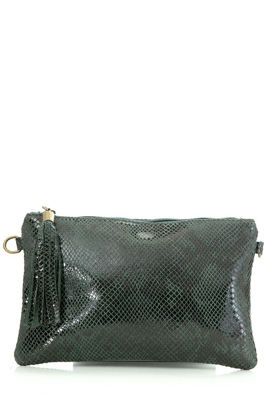 Diva's Bag Женская кожаная сумка SALIMA цвет темно-зеленый