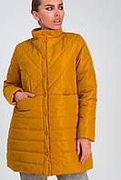 Удлиненная стеганая женская куртка весна-осень