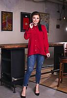 Женская нарядная блузка Батал  размеры 50,52,54,56, фото 1