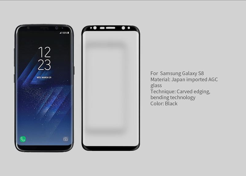 Защитное стекло Nillkin (CP + max 3D) Samsung G950 Galaxy S8 / S9 Черный