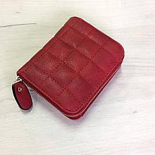Квадратный мини кошелек со стеганной структурой (0830) Красный