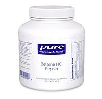 Бетаина гидрохлорид + пепсин, Betaine HCL/Pepsin, для пищеварительного тракта, 250 капсул