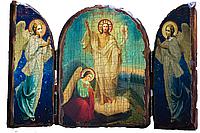 Икона складень Воскресение Христово