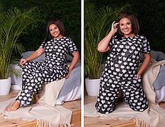 Пижама  БАТАЛ хлопок в расцветках 82870