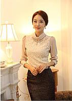 Стильная кружевная блузка , фото 1