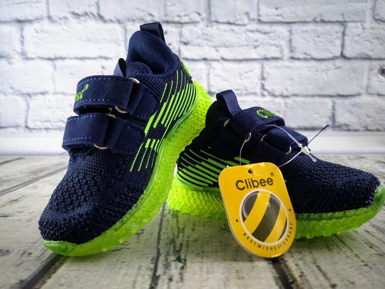 Кросівки для хлопчиків Синій, підошва з підсвічуванням Clibee Румунія