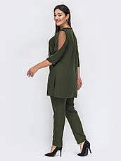 Костюм женский для полных туника с брюками, фото 2