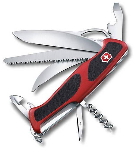 Функциональный карманный складной нож Victorinox RangerGrip 57 Hunter 09583.MC красный