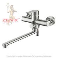 Смеситель для ванны с длинным изливом из нержавеющей cтали ZERIX LR72203