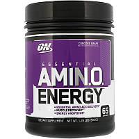 """Энергетическая добавка с незаменимыми аминокислотами (ON Essential Amino Energy) со вкусом винограда сорта """"Конкорд"""" 585 г"""