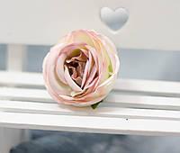 Головка розы премиум.кремово-розовый, фото 1