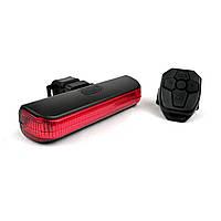 Задний фонарь-мигалка USB с указателем поворотов с пульта