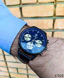 Часы мужские в стиле Carrera. Мужские наручные часы черные. Часы с черным циферблатом Годинник чоловічий
