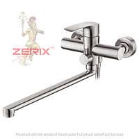 Смеситель для ванны с длинным изливом из нержавеющей cтали ZERIX LR72201