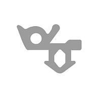 Уплотнитель ECOPLAST для стекла (серый).