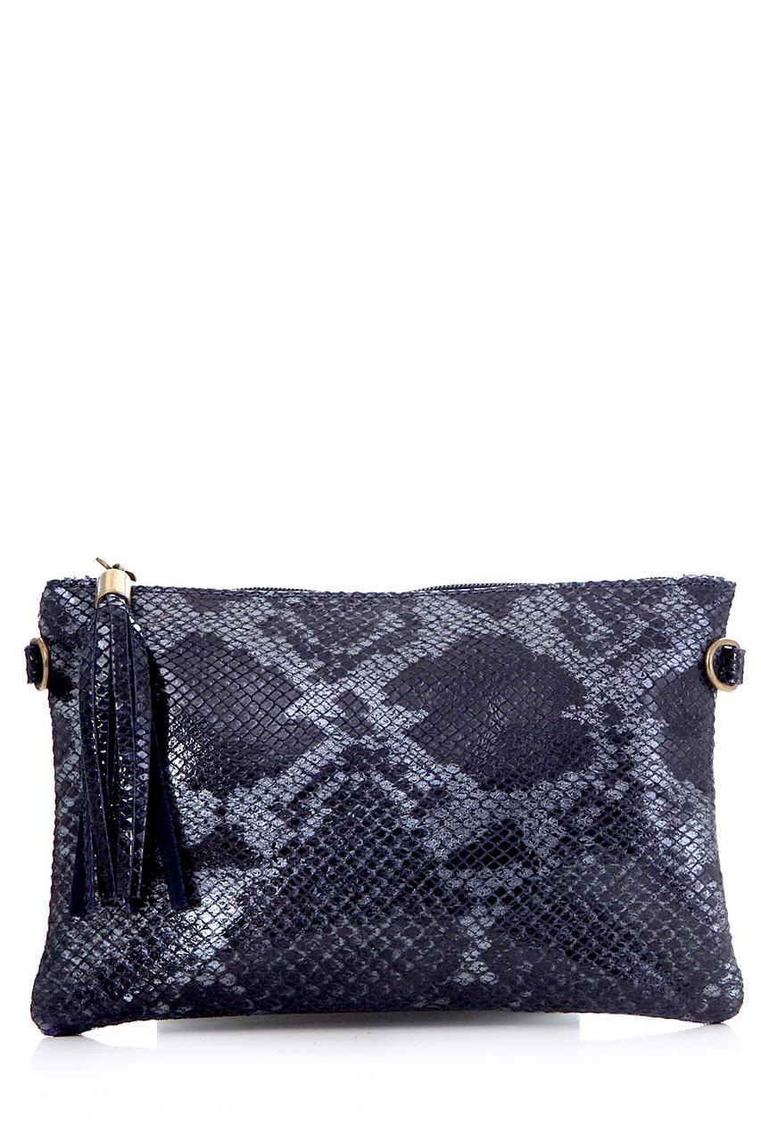 Diva's Bag Женская кожаная сумка SALIMA цвет темно-синий