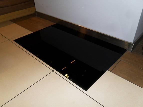 Защита пола перед камином 60х40 каленое черное скекло, фото 2