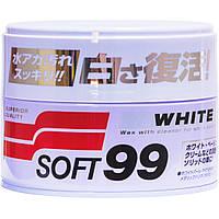Цветной полироль для кузова SOFT99 White Super Wax 350 мл