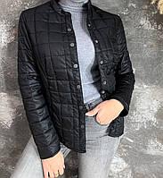 Женская слегка утепленная куртка черного цвета, см. замеры в описании!!!, фото 1