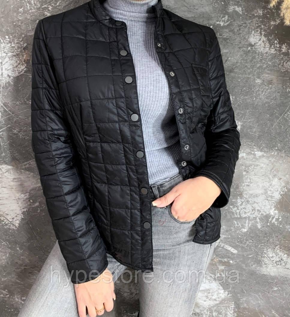 Женская слегка утепленная куртка черного цвета, см. замеры в описании!!!